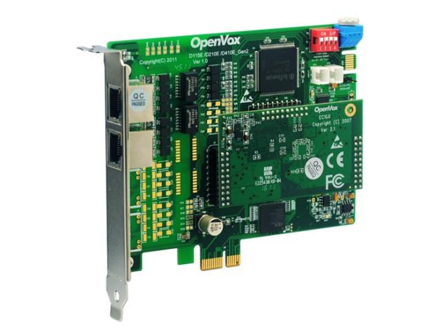 OpenVox DE210E ISDN PRI E1 Цифровая плата