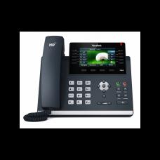 SIP телефон Yealink SIP-T46S, цветной экран, 16 аккаунтов, BLF,  PoE, GigE, без БП