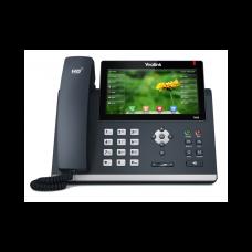 SIP телефон Yealink SIP-T48S, цветной сенсорный экран, 16 аккаунтов, BLF,  PoE, GigE, без БП
