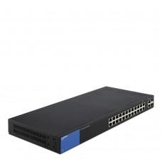 Коммутатор Linksys LGS326-EU, 24-Port Gigabit Smart Managed Switch + 2x Gigabit SFP/RJ45 Combo Ports