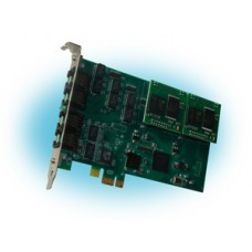 Parabel Quasar-4PCX-EC - Цифровая плата для Asterisk, 4 E1 порта, PCI express, эхоподавитель
