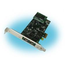 Parabel Quasar-MEEX-EC-FO - Цифровая плата E1 для Asterisk, 2 порта E1, PCIe, эхоподавитель, аварийный коммутатор