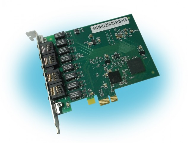 Parabel Quasar-16RPCX.2 PCI-express - Многоканальная цифровая плата E1 для Asterisk
